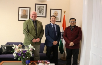 Consul General of India Mr Hitesh Rajpal had a detailed and fruitful discussion with Prof Bob Ferrier, James Hutton Institute and Mr Barry Craig, Sr Policy Adviser, Hydro Nation on cooperation in Namami Gange and other avenues in Water Resources sector.
